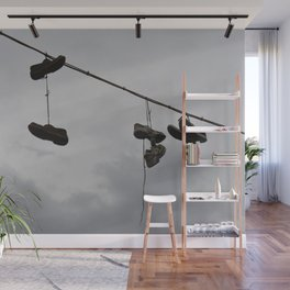 Shoes In The Air Wall Mural