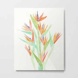 Birds of Paradise ~ tropical bouquet Metal Print