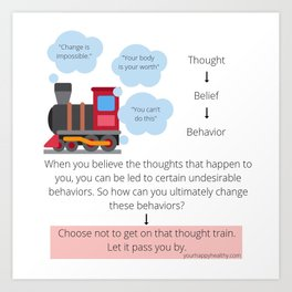 Thought Train Art Print