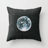 laia Throw Pillows featuring Moon by Laia™
