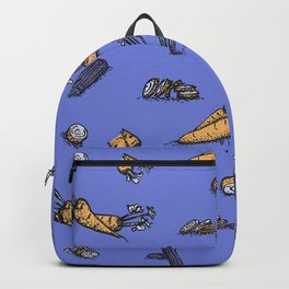 Trendy ultraviolet pattern with cattor and celery Backpack