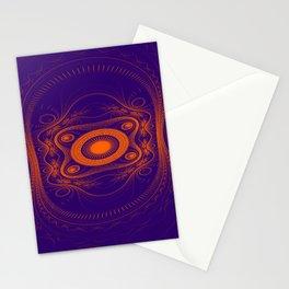 Steampunk fractal art Stationery Cards