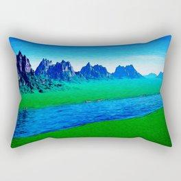 Mountain River Landscape Rectangular Pillow