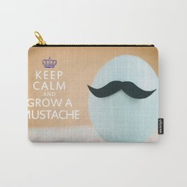 Keep Calm & Grow A Mustache Carry-All Pouch