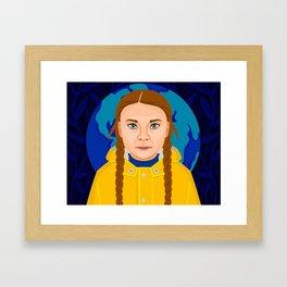 Greta Thunberg Framed Art Print