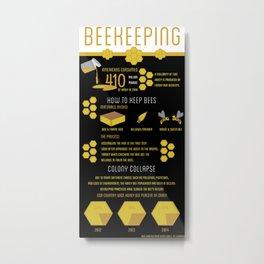 Keeping Bees Metal Print
