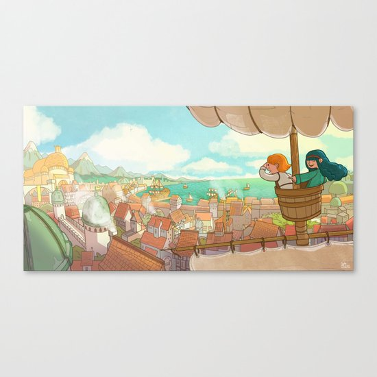 The Little Scribe: The City! Canvas Print