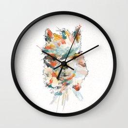 + Watercolor Alpaca + Wall Clock
