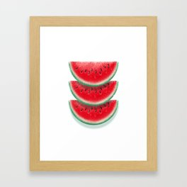 Slices of watermelon Framed Art Print
