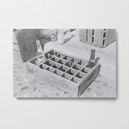 wooden rack Metal Print