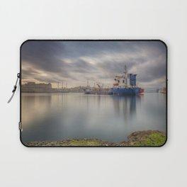 Sunrise at the meditteranean port of Grand Harbour, Valletta, Malta Laptop Sleeve