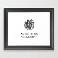 sully and mike's alma mater Framed Art Print