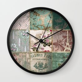 Nine Times Paris Wall Clock