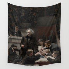 Thomas Eakins - Portrait of Dr Samuel D Gross (The Gross Clinic) Wall Tapestry