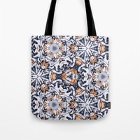 cigarettes Tote Bags featuring cigarettes pattern by Sushibird