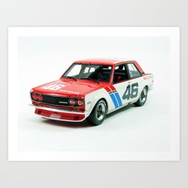 BRE Racing 510 Vintage JDM SCCA Championship Classic Automobile No. 2 Art Print