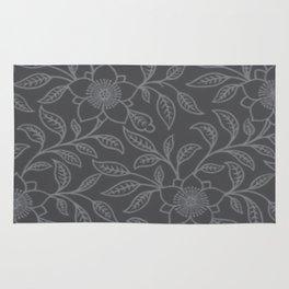Sharkskin Lace Floral Rug