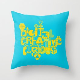 Digital Creative Curious by Extraverage Throw Pillow