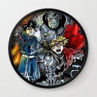 fullmetal Wall Clocks featuring Fullmetal Alchemist by MarioRojas