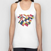matisse Tank Tops featuring Map Matisse Stretched by Project M