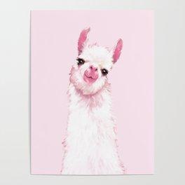 Llama Pink Poster