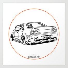 Crazy Car Art 0215 Art Print