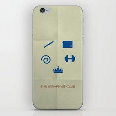 The Breakfast Club Minimalist Poster iPhone & iPod Skin