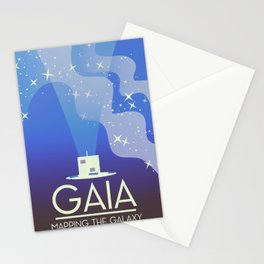 GAIA Space Telescope travel poster. Stationery Cards