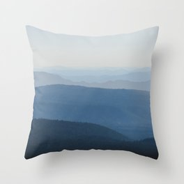 Smoky Blue Mountains Throw Pillow