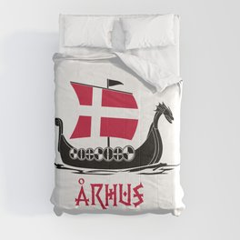 Arhus  TShirt Denmark Flag Shirt Danish City Gift Idea Comforters