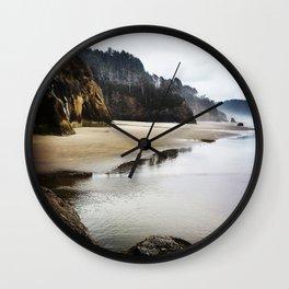Hug Point Landscape On Oregon Coast Wall Clock