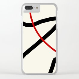 abstract minimal 46 Clear iPhone Case