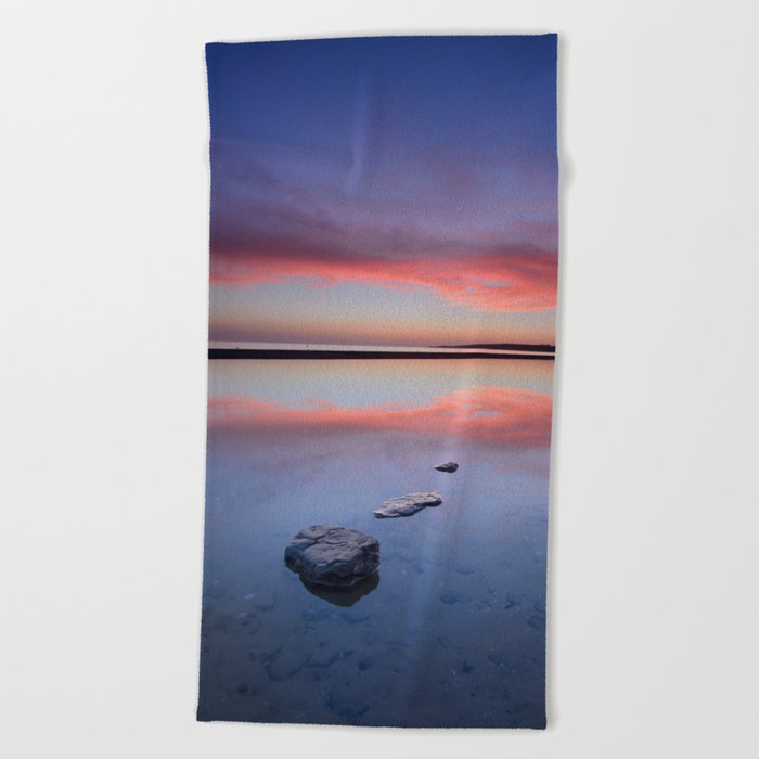 """Purple....."" Tarifa beach. Beach Towel"