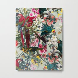 FLORAL AND BIRDS XXII Metal Print