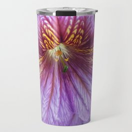 Purple Salpiglossis Floral Travel Mug