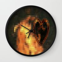 gem Wall Clocks featuring Gem by Maria Julia Bastias