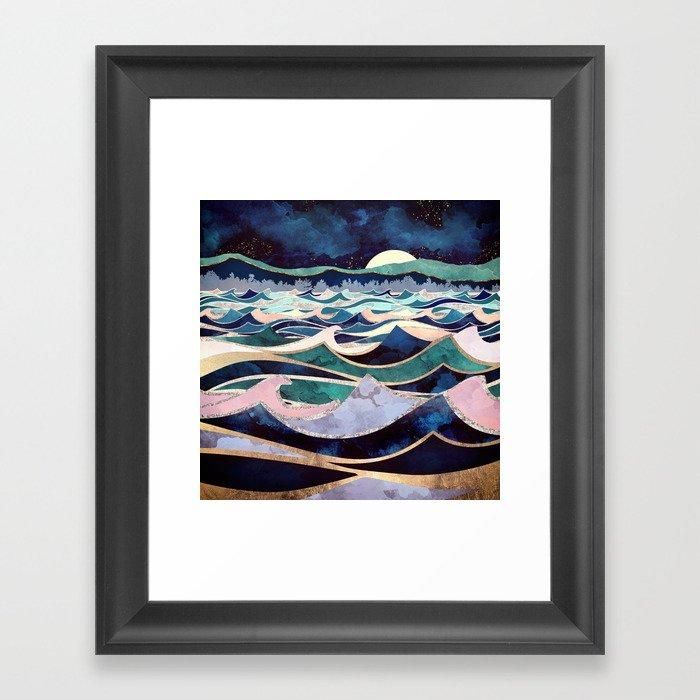 Moonlit Ocean Gerahmter Kunstdruck