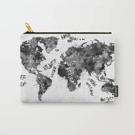 world map color splatter 4 Carry-All Pouch