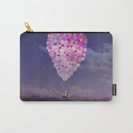 NEVER STOP EXPLORING IV PINK BALLOONS Carry-All Pouch