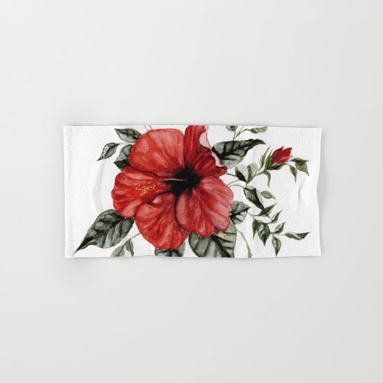 Blooming Red Hibiscus by shealeenlouise