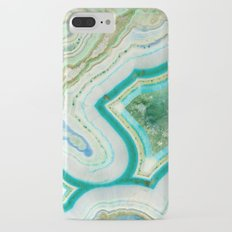 Sea Spray Crystal Agate Slice iPhone 7 Plus Slim Case