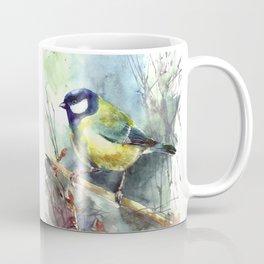 Watercolor aquarelle titmouse bird Coffee Mug