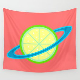 Planet Lime   Lime   Citrus   Fruit   Solar System   Planets   pulps of wood Wall Tapestry