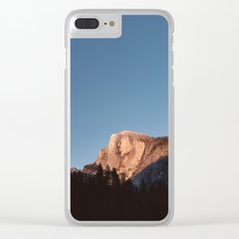 Half Dome Sunset Clear iPhone Case