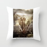 plant Throw Pillows featuring PLANT by zulema revilla