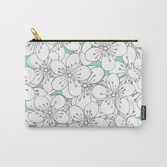 Cherry Blossom With Mint Blocks - In Memory of Mackenzie Carry-All Pouch
