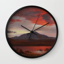 Frederic Edwin Church - Twilight - Hudson River School Oil Painting Wall Clock