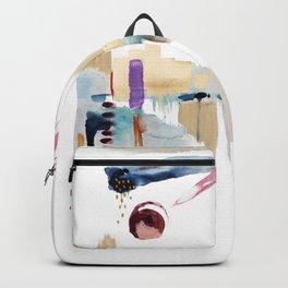 Malibu | Original Abstract Cityscape by Artist Kristen Baker Backpack