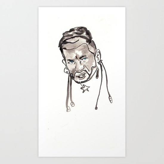 RiFF RAFF Portrait Art Print