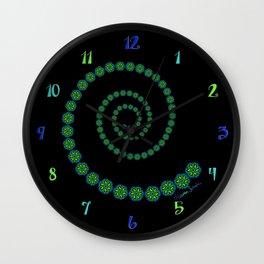 Spiral of Floral Swirls Wall Clock
